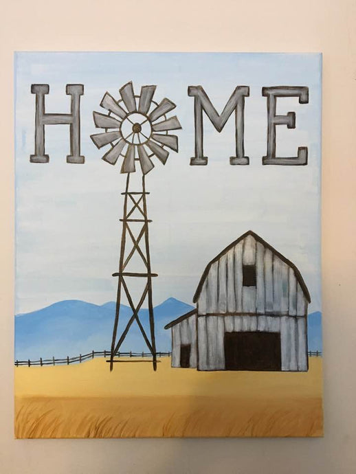 Home Rustic Country Barn Canvas Painting