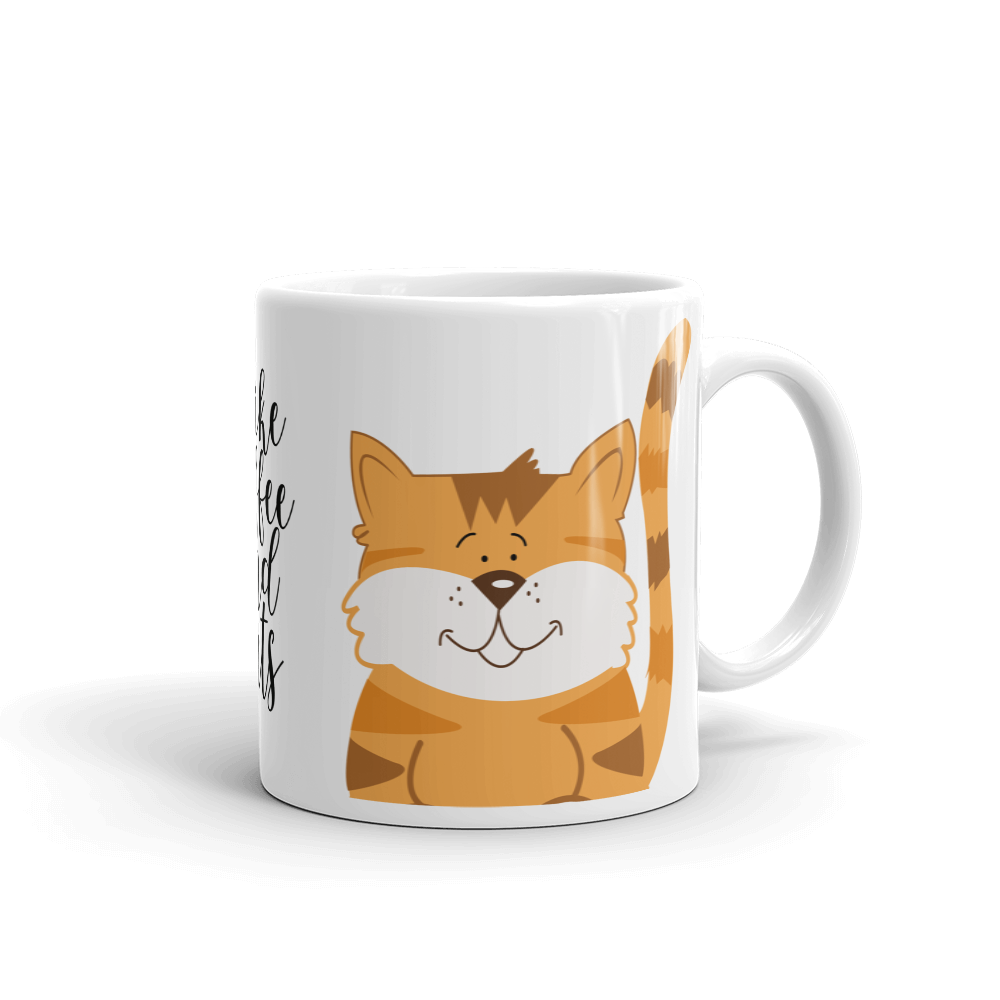 I Like Coffee and Cats Orange Tabby Cat Coffee Mug