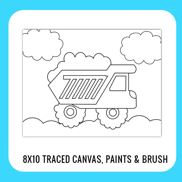 Construction Dumptruck Paint Kit for Kids