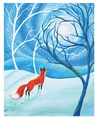 Fox in the Forest Canvas Painting