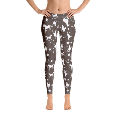 Women's Horse Leggings Brown Western Equestrian