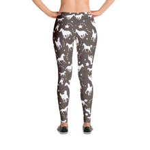 Load image into Gallery viewer, Western Horse Pattern Brown Leggings - Women's Size