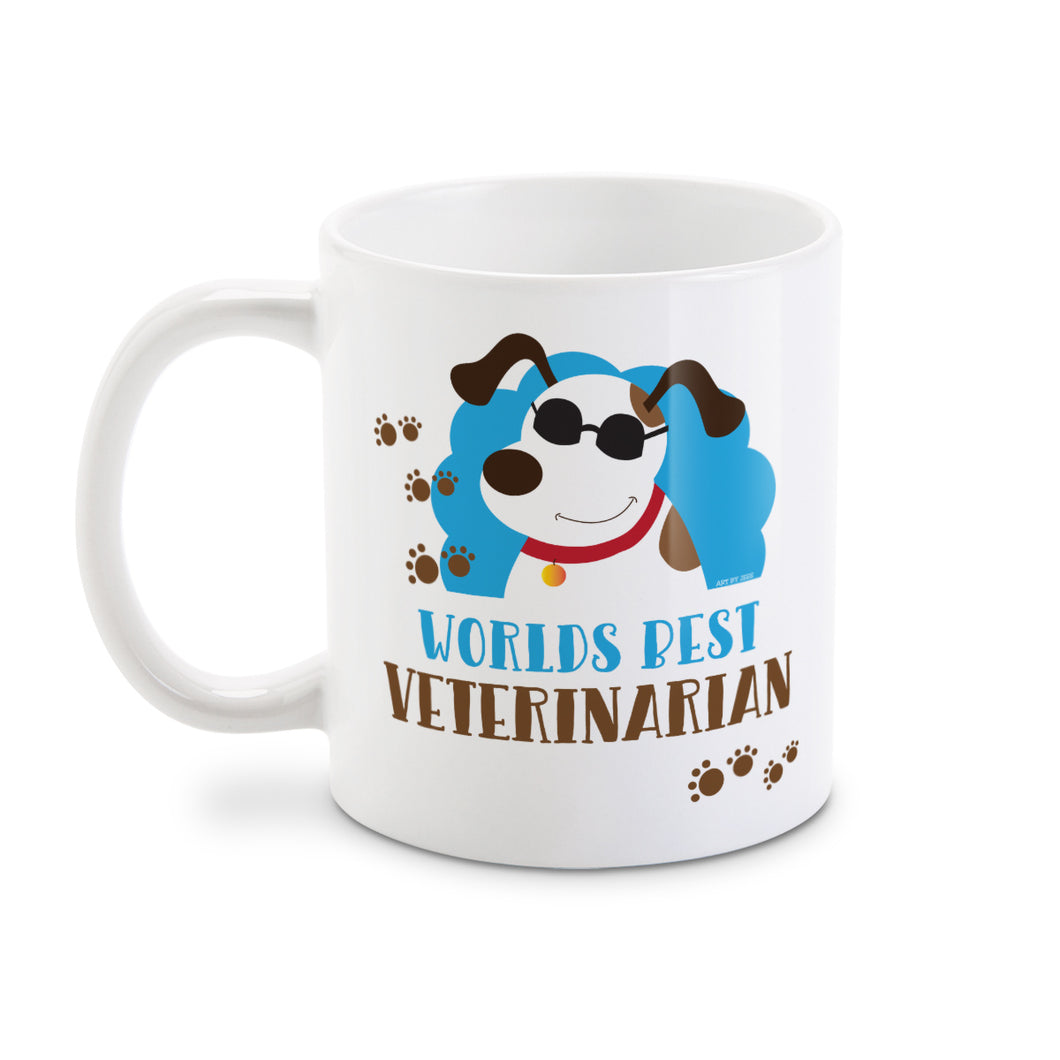 World's Best Veterinarian Cute Dog Coffee Mug
