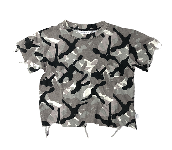 Long Ride Top Grey Camo