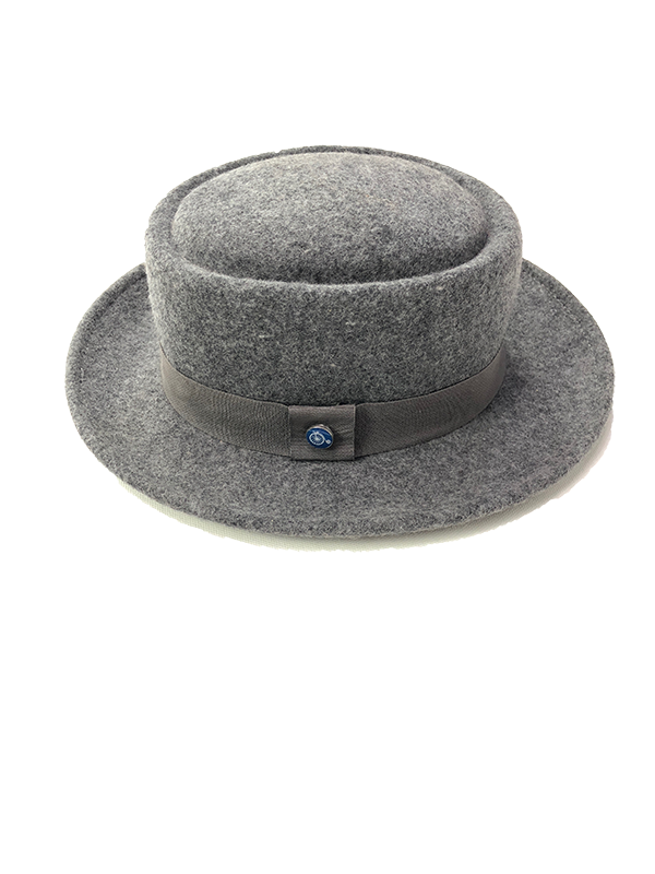 Pork Pie Hat Heather Grey