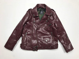 Rocker Jacket Ox Blood Vegan Lamb Skin