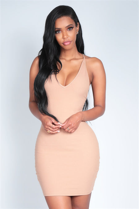 BARELY THERE DRESS | LATTE