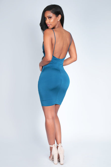 HOT PURSUIT DRESS | TEAL