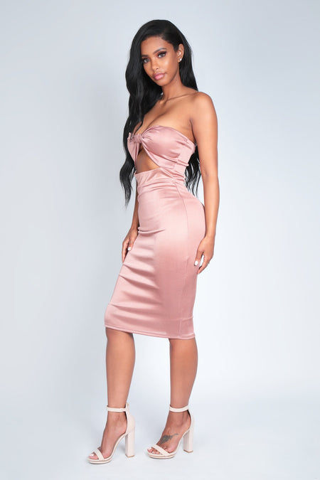 MY PRESENT TO YOU DRESS | BLUSH