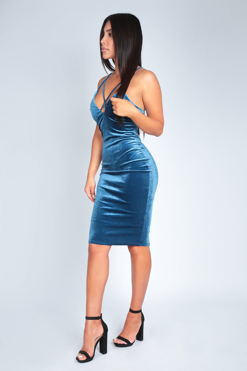 ALISSA DRESS | BLUE