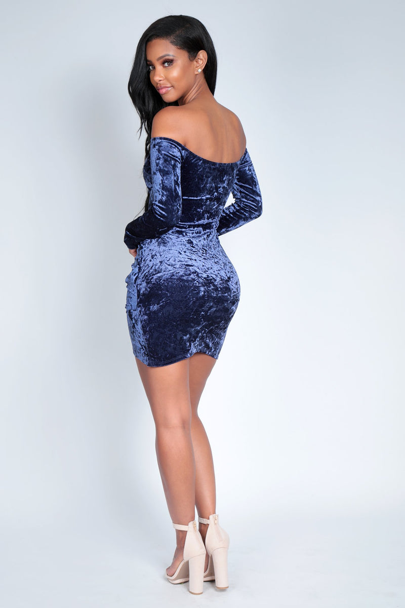 STRAIGHT AWAY DRESS | BLUE