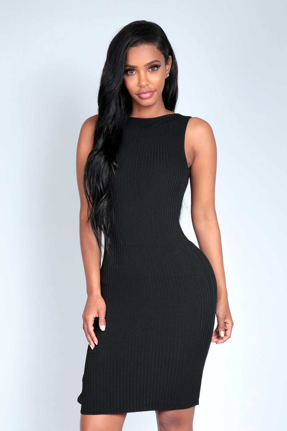 ADRIANNA DRESS | BLACK