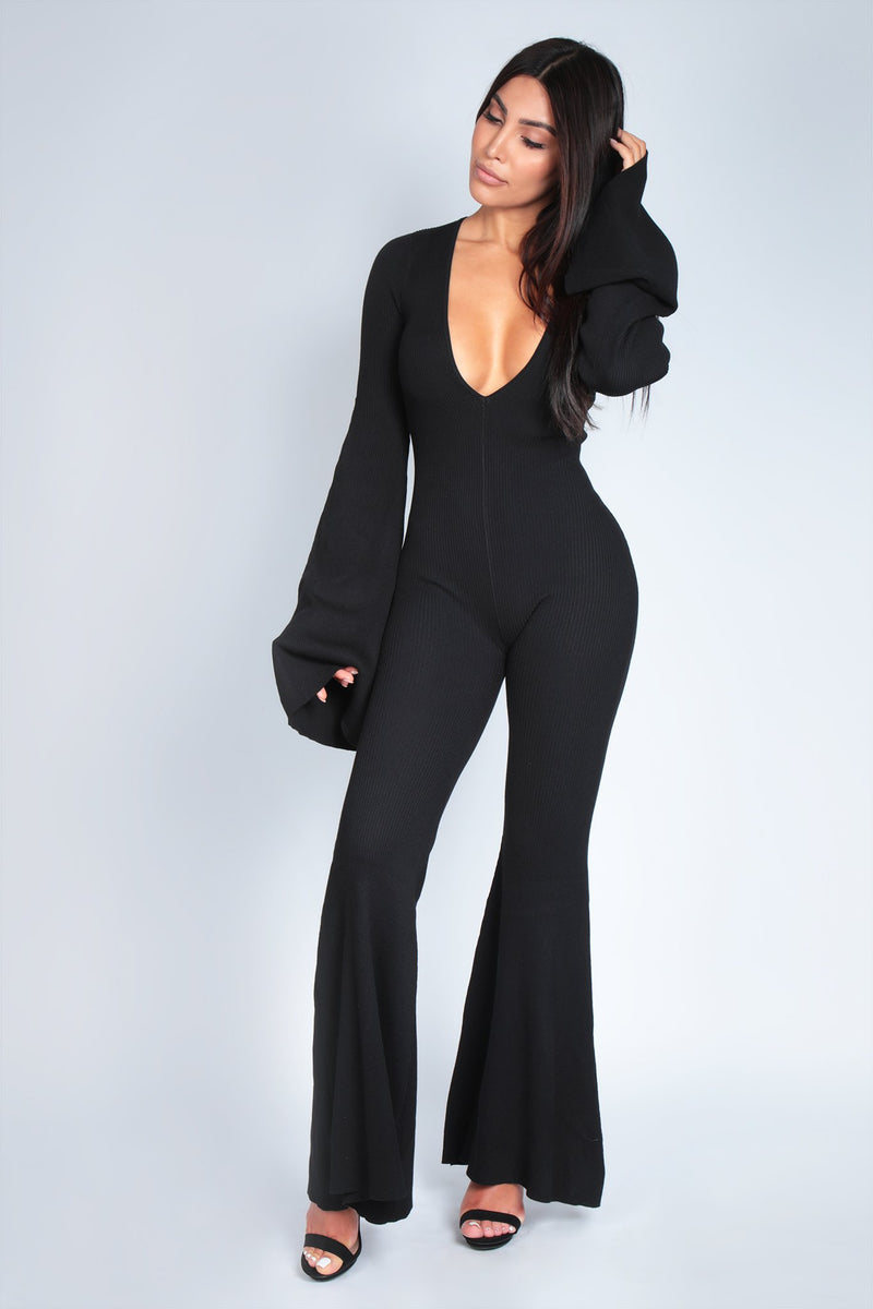 JUMP ON IT JUMPSUIT | BLACK