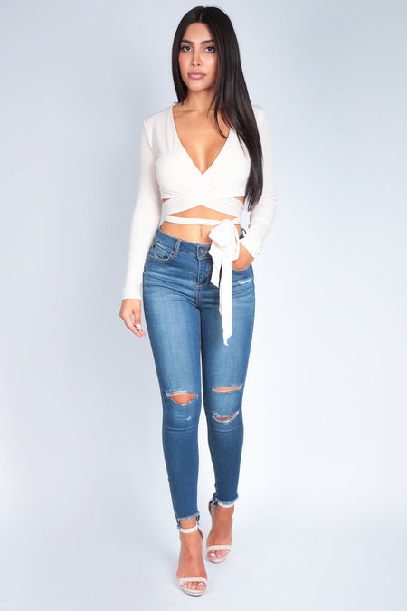 ALANA HIGH RISE SKINNY JEANS | MEDIUM DENIM