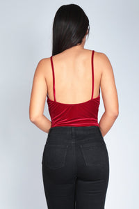 MISS V BODYSUIT | BURGUNDY