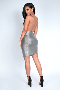 PLATINUM PLEASE DRESS | SILVER