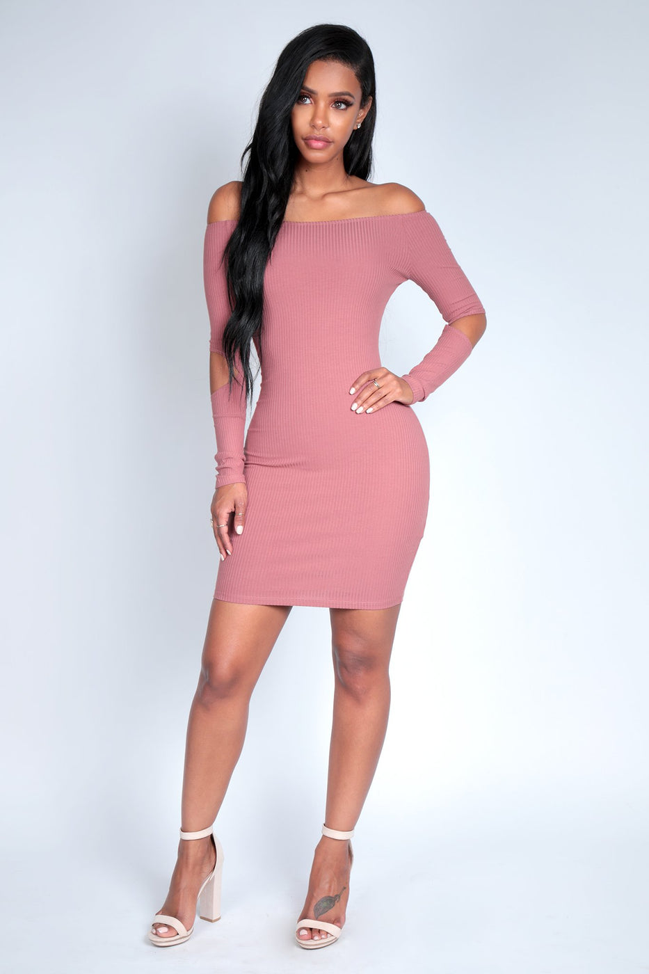 PS I LOVE YOU DRESS | MAUVE
