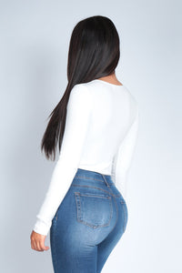 HALEY BODYSUIT  | WHITE
