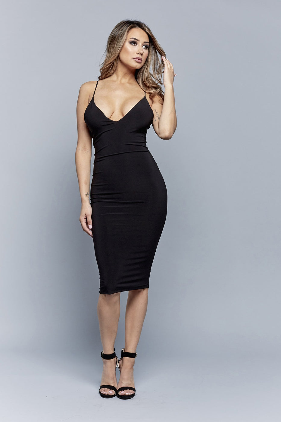 SLIP AND SLAY DRESS | BLACK
