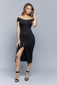 XYZ DRESS | BLACK