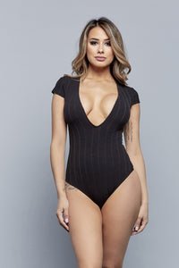 PRETTY DEEP BODYSUIT | BLACK