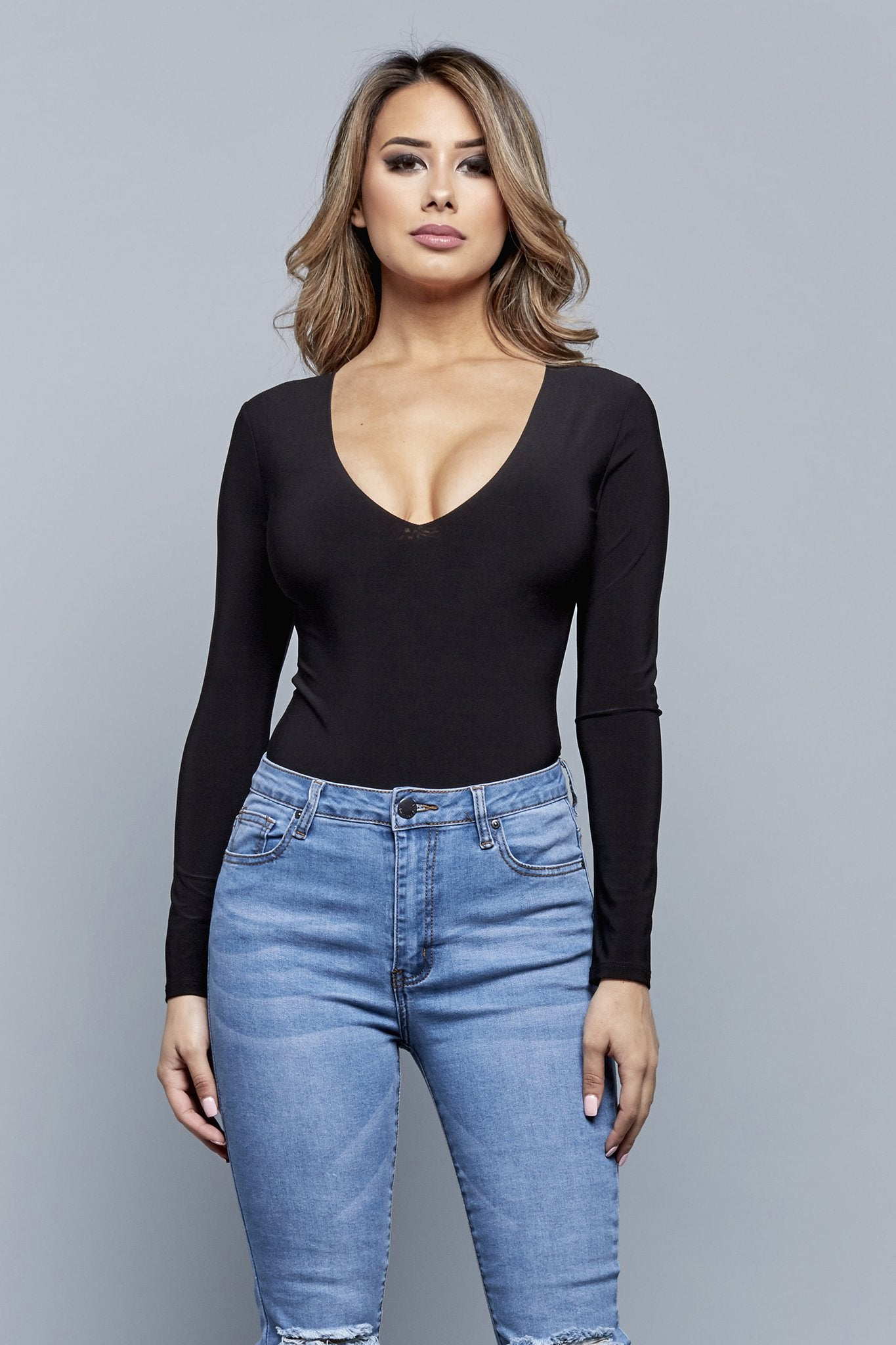 V BEST BODYSUIT | BLACK