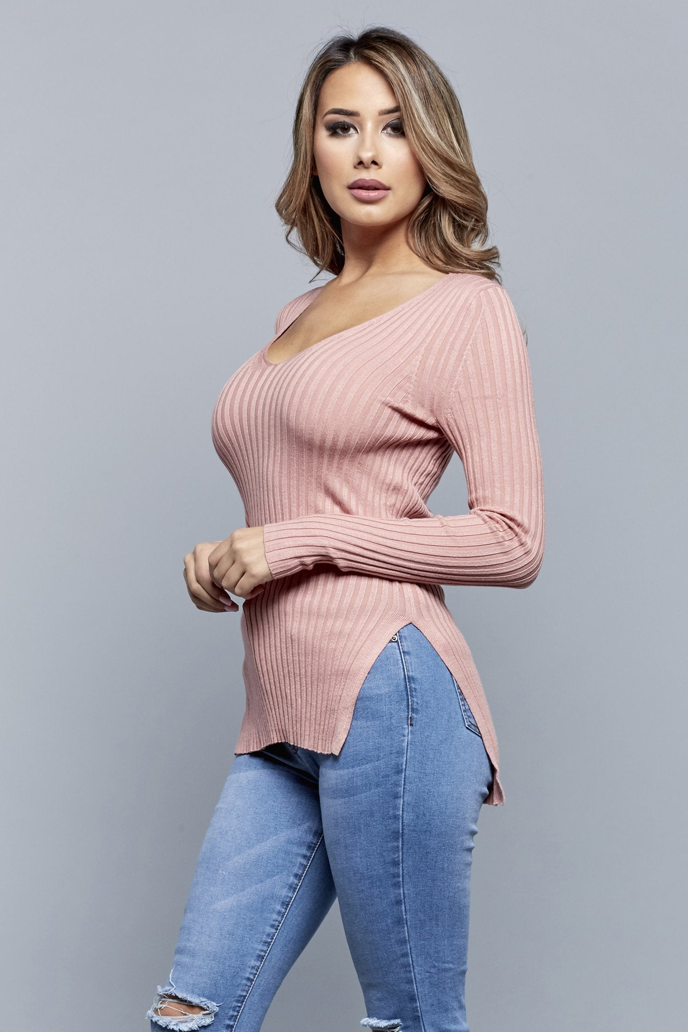 SWEATER WEATHER TOP | PINK
