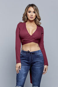 THAT'S A WRAP TOP | BURGUNDY