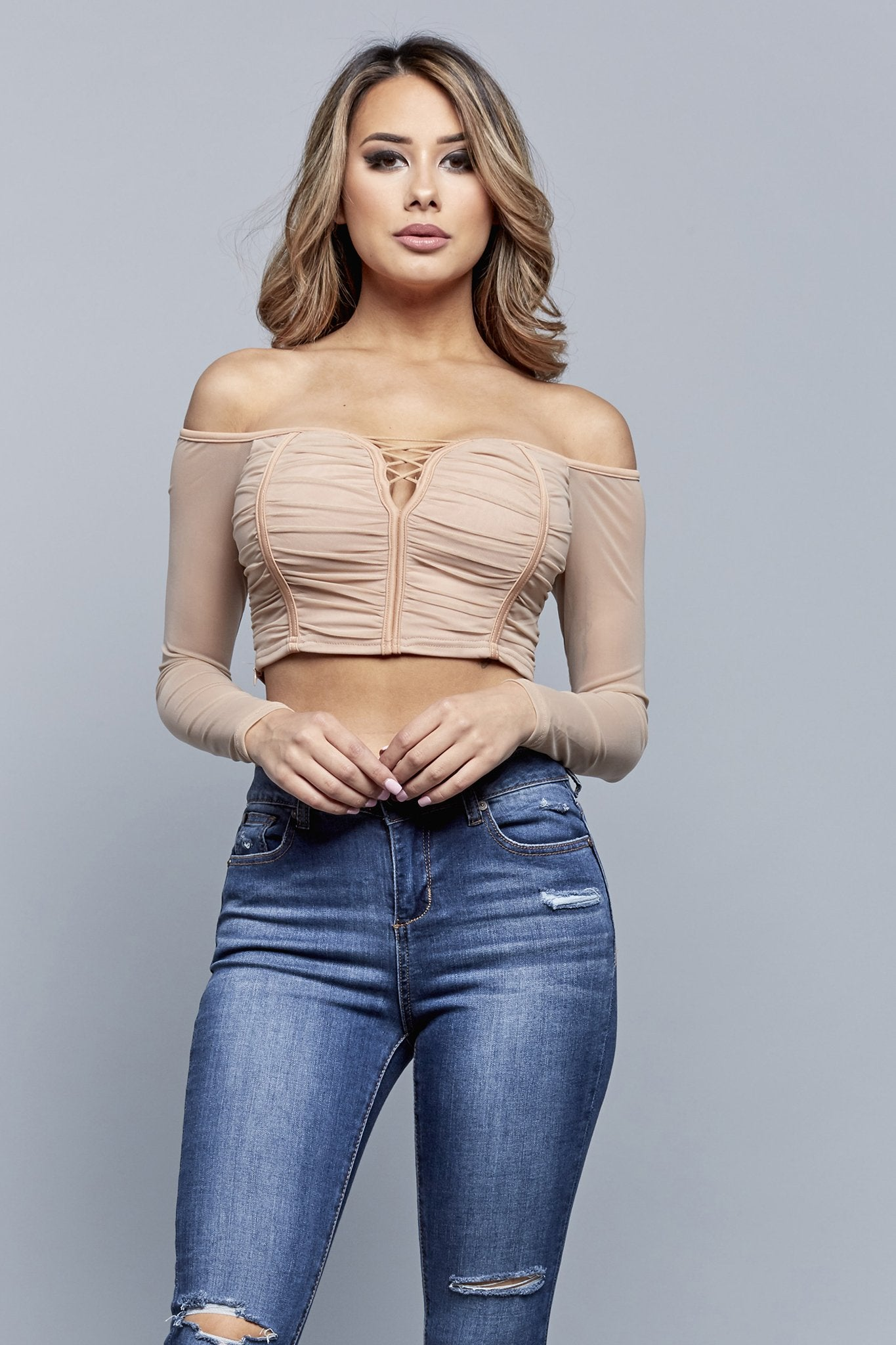 BREAKING OUT CROPPED TOP | NUDE