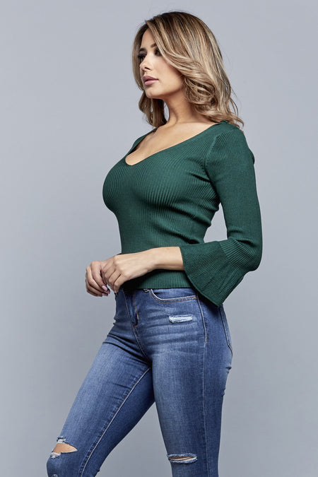 ENVY ME TOP | FOREST GREEN