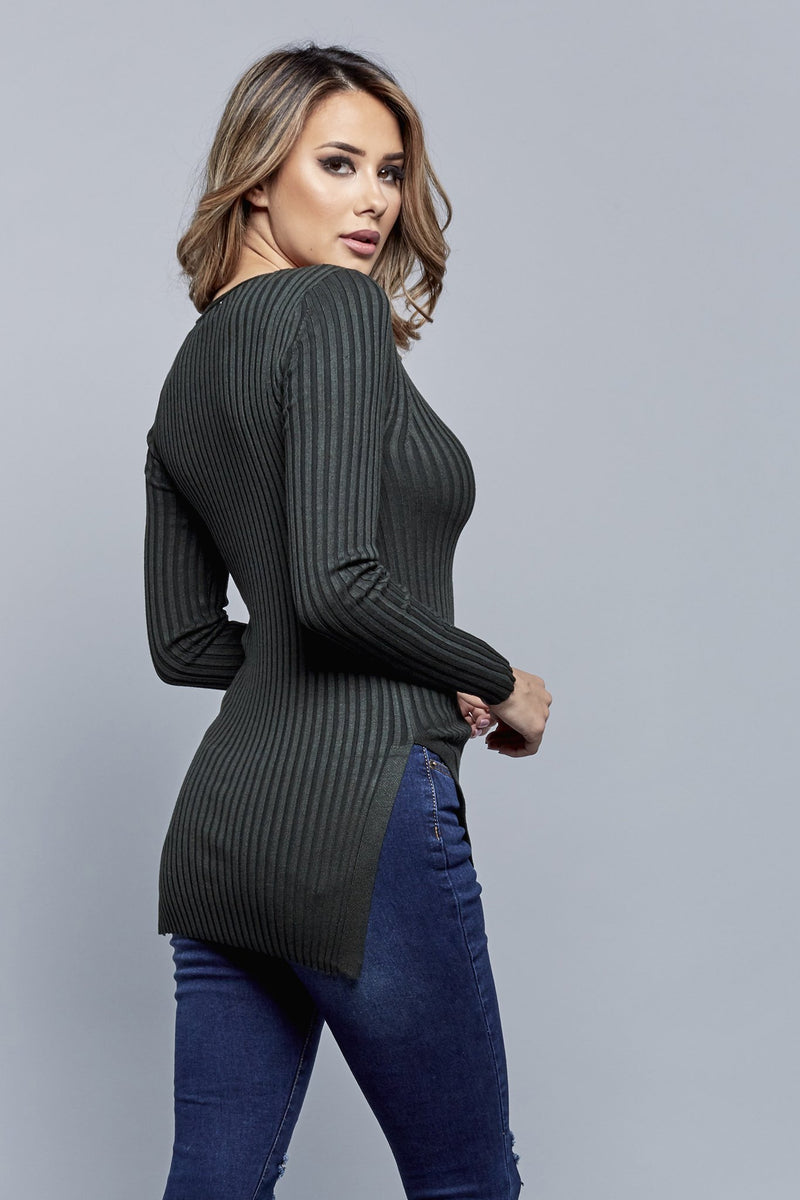 SWEATER WEATHER TOP | OLIVE