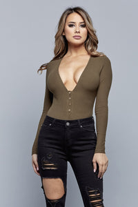 OH SNAP BODYSUIT | OLIVE