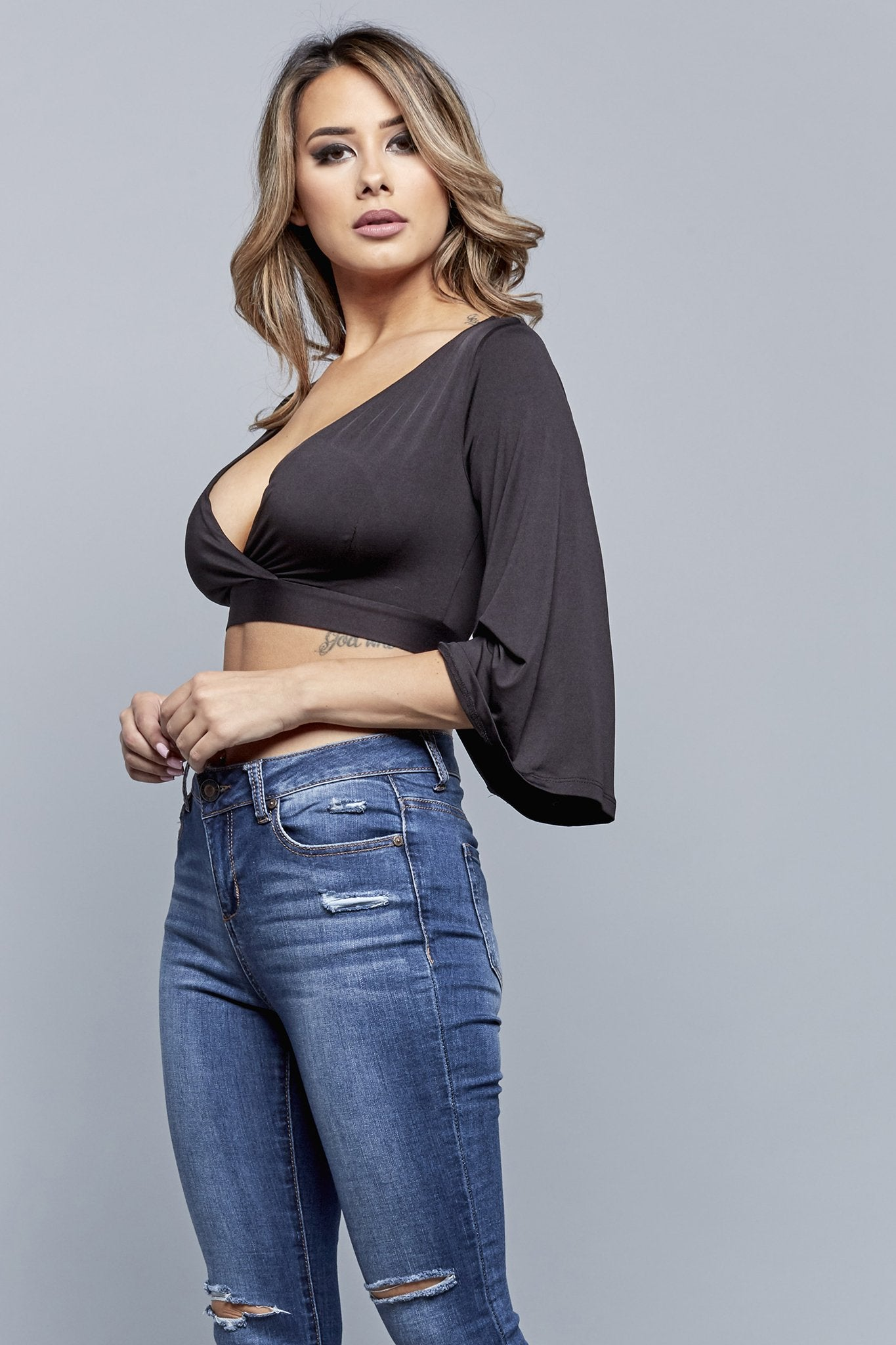 KISS MY BACKSIDE TOP | BLACK