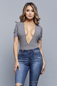 OUT TO LUNCH BODYSUIT | GREY