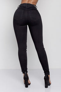 ALEXANDRA HIGH RISE | BLACK DENIM