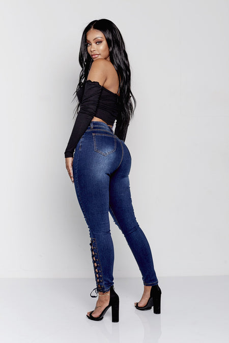 BARDI HIGH RISE | DARK BLUE DENIM