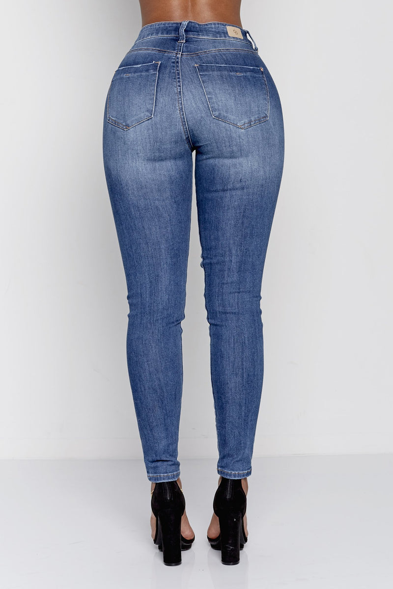 PERF FIT HIGH RISE | BLUE DENIM