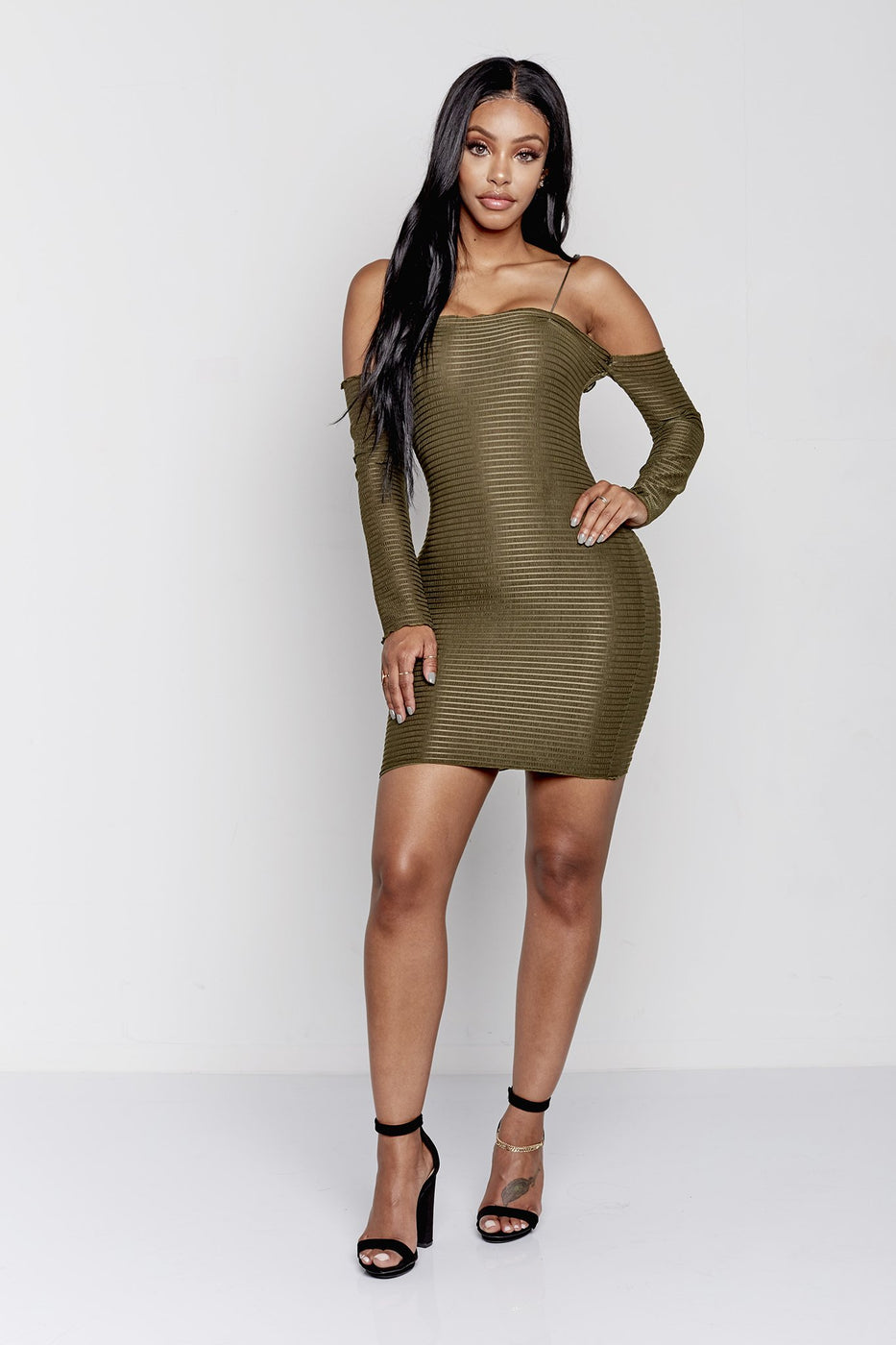 FRIYAY DRESS  | OLIVE