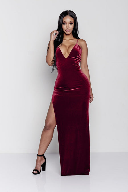 WINE ME DRESS  | BURGUNDY