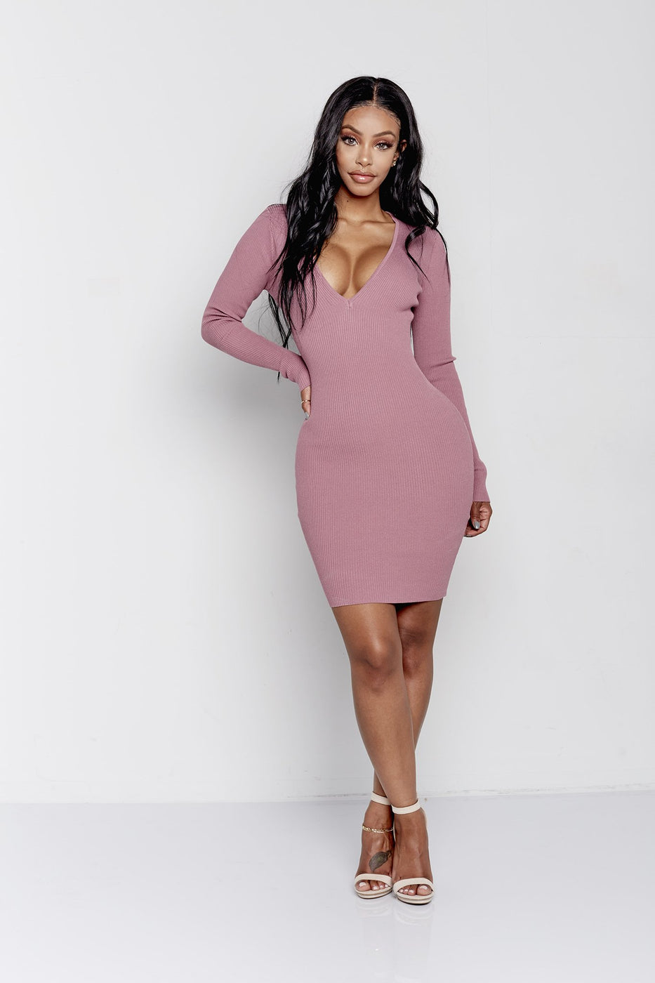 NATALIE DRESS | MAUVE