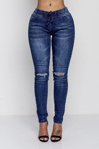 TYRA JOGGERS | BLUE DENIM