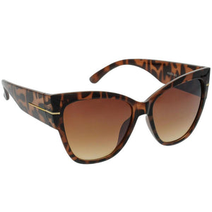 Tortoise Shell Wide Frame Sunglasses