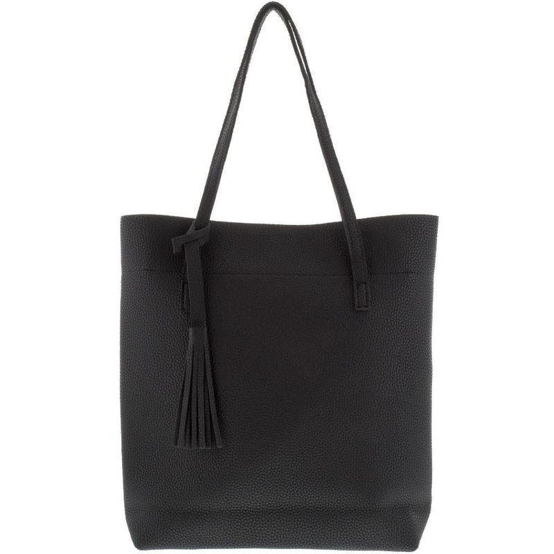Vegan Leather Tassel Tote