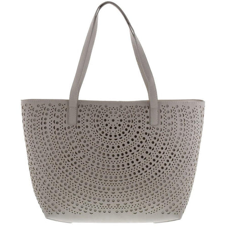Reversible Laser Cut Leather Tote