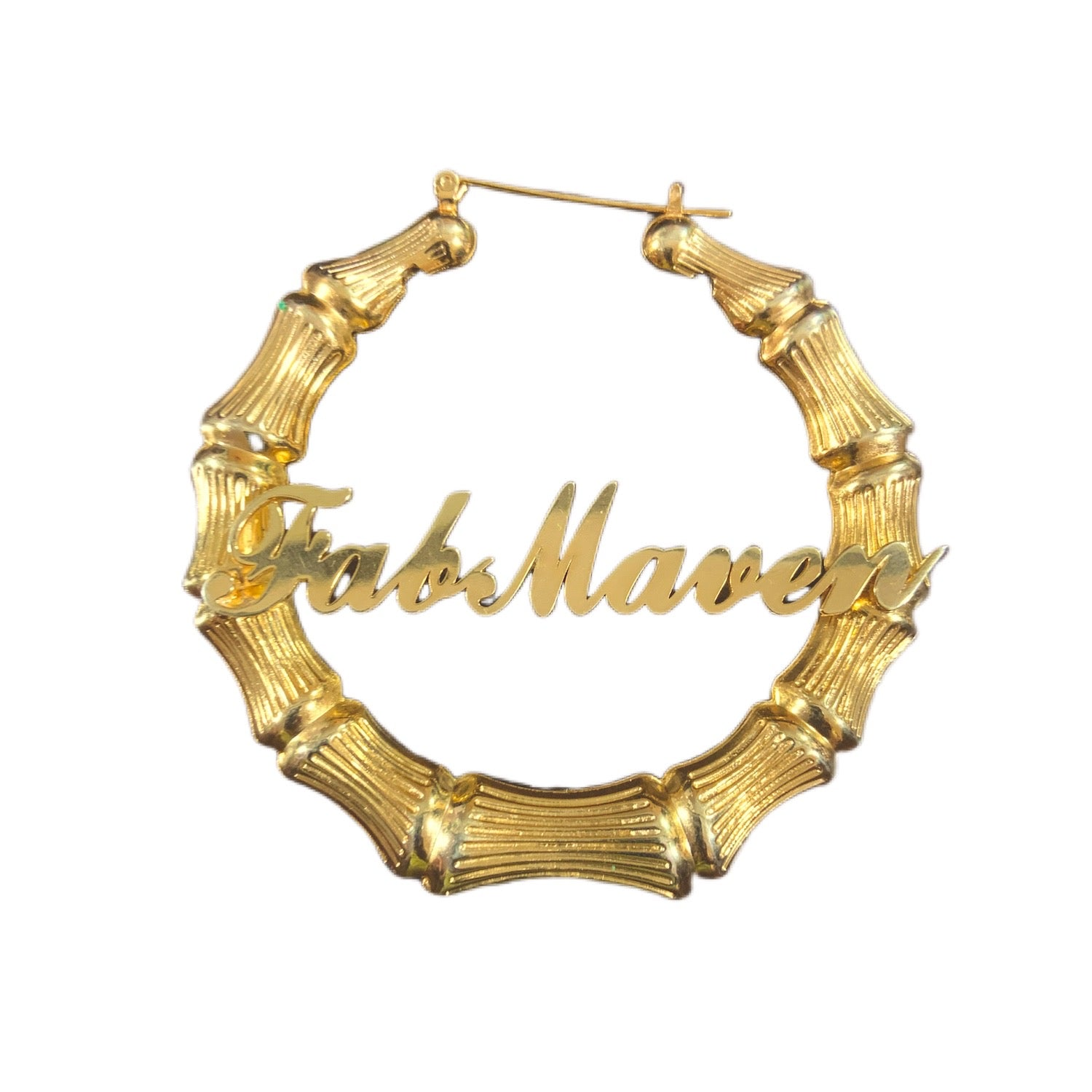 "3"" Fab Maven Nameplate Logo Earrings"