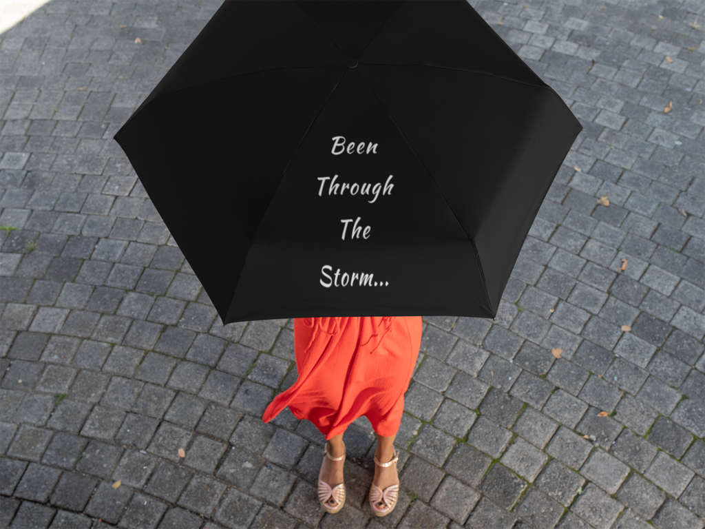 "Oversized Fab Maven ""Through The Storm"" Logo Umbrella"
