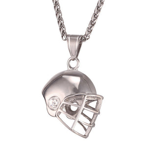 American football helmet pendant charm necklace kivick american football helmet pendant charm necklace aloadofball Choice Image
