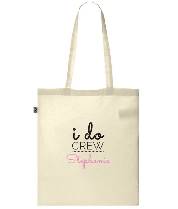 "Personalised Wedding Tote ""i do crew"""