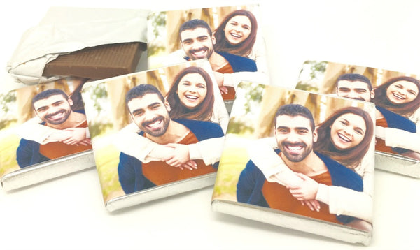 Your Own Photo Personalised Chocolate Wedding Favours