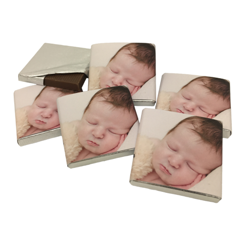 Your own Photo Personalised Chocolate Christening Favours